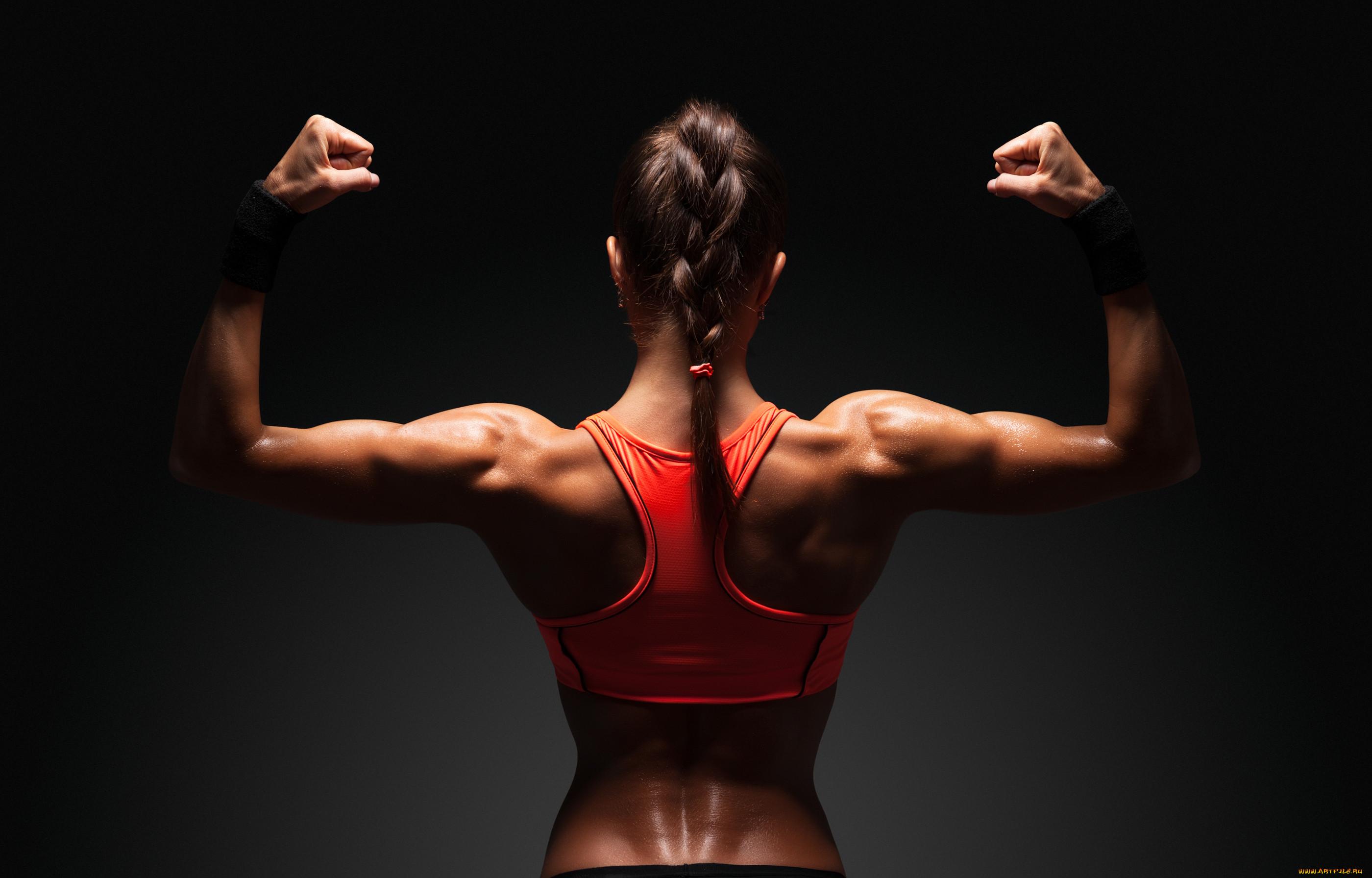 фото женской спортивной спины паре алексы